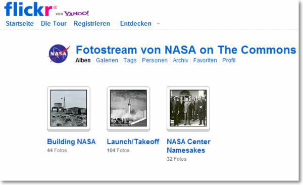 NASA Fotostream auf Flickr