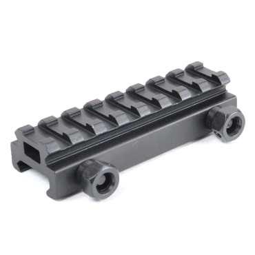 "AT3™ .5"" Picatinny Riser Scope Mount - 8 slots - Black"