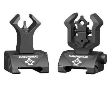 Diamondhead - Front & Gen2 Rear Sight Set - Folding - Same-Plane Height - 1199