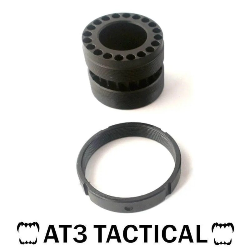 Replacement Lock Nut and Barrel Nut For AT3 Tactical T-Series Free Float Quad Rail Handguards