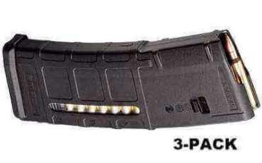 3-Pack - Magpul PMAG 30-Round M2 MOE Window Mag - .223 / 5.56 NATO