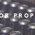 [Call for proposals]