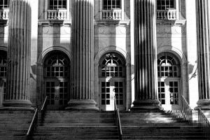 [Toward a quieter code of silence - Image of a courthouse]