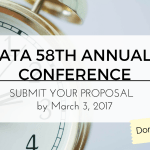 [ATA 58th Annual Conference - Submit Your Proposals]