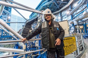 Rock star and astrophysicist Brian May visiting ESO's Paranal Observatory