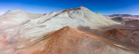 Otherworldly landscape of Cerro Pampa in the Atacama desert near Pedernales