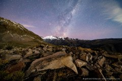 Milky Way above the Andes mountains near Santiago de Chile