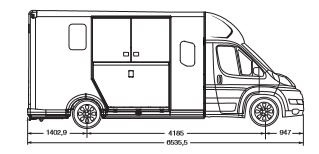 Theault New Proteo 5 Stud Horsebox 2.2L 165hp on a New