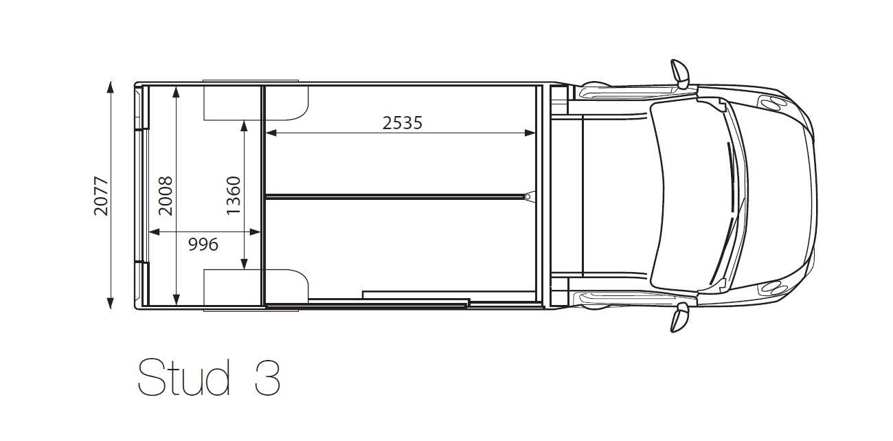 Theault Ex-Demo Automatic 3.5 tonne Proteo 3 Stud Horsebox