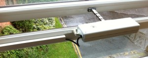 ACK4 Window Opener on a PVC window