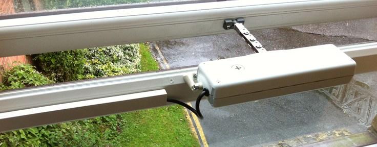 ACK4 Window Opener on a PVC window