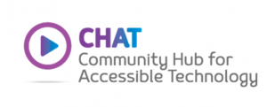 Logo for CHAT community hub for assistive technology
