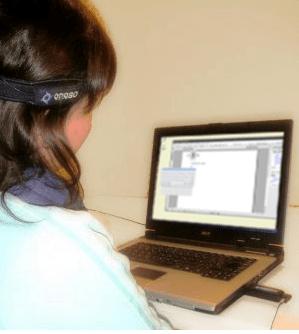 EnPathia mouse worn on the users head