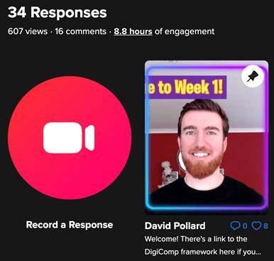 Flipgrid app showing David Pollard