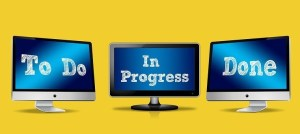 """Image of 3 screen with text,""""to do"""", """"In progress"""" and """"done"""""""