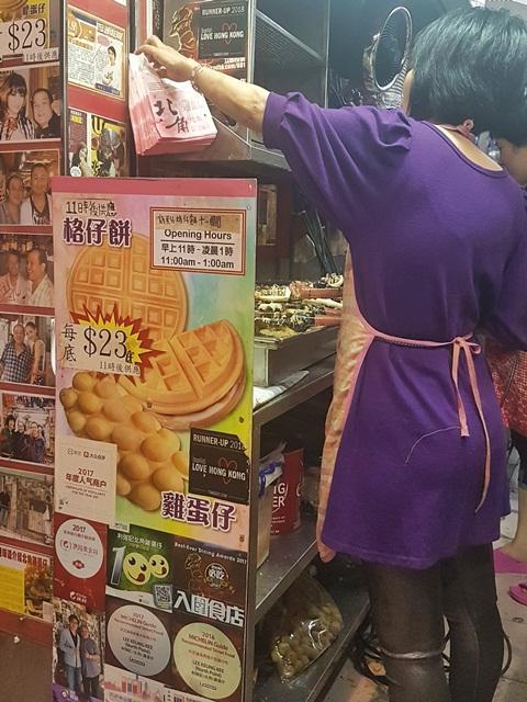 Egg Waffles di Hong Kong