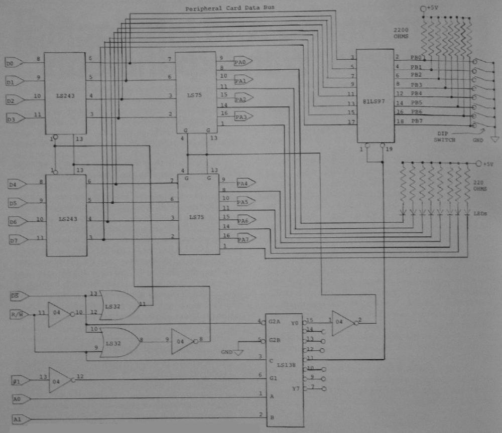 medium resolution of if you want to reduce the chip count replace the two 74ls243s with one 74ls245 octal bus transceiver a 20 pin chip