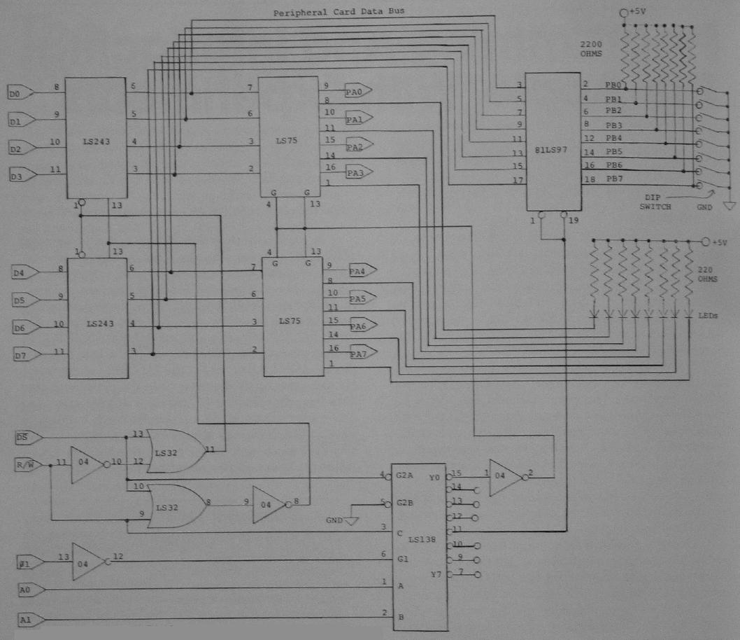 hight resolution of if you want to reduce the chip count replace the two 74ls243s with one 74ls245 octal bus transceiver a 20 pin chip