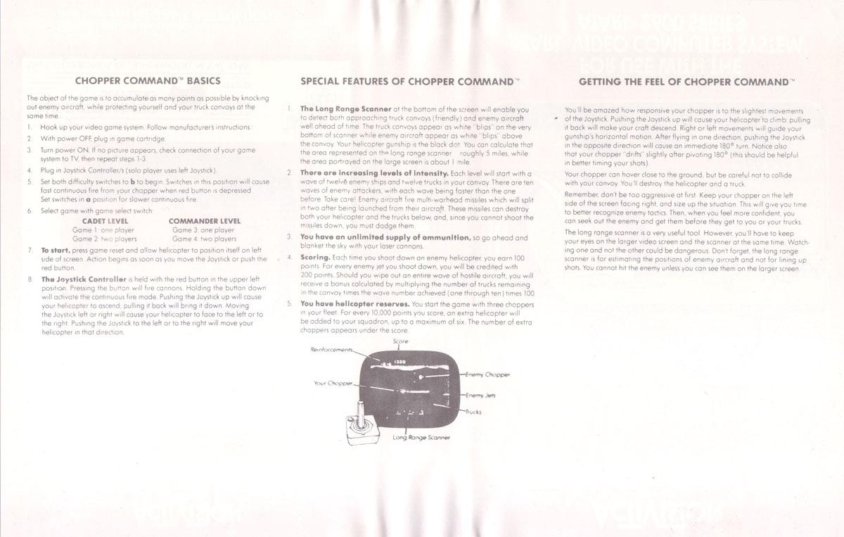 Atari 2600 VCS Chopper Command : scans, dump, download