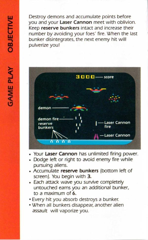 Atari 2600 VCS Demon Attack Scans Dump Download