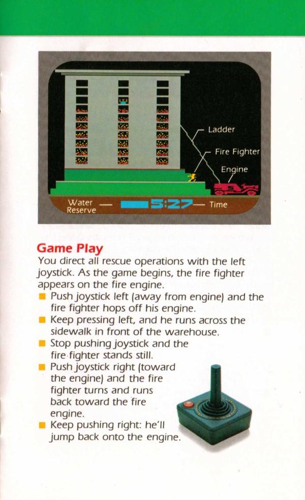 Atari 2600 VCS Fire Fighter Scans Dump Download