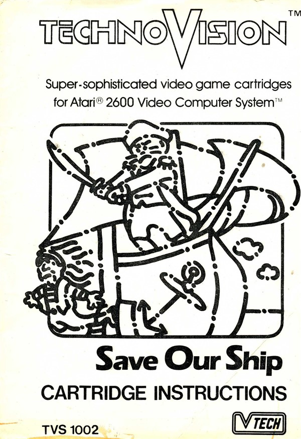 Atari 2600 VCS Save Our Ship : scans, dump, download