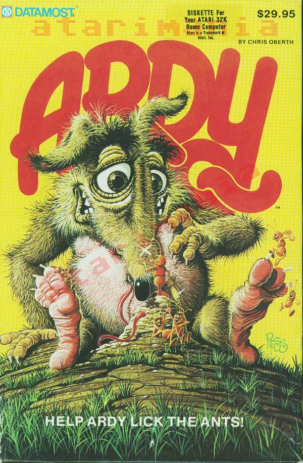 Atari 400 800 XL XE Ardy the Aardvark  scans dump