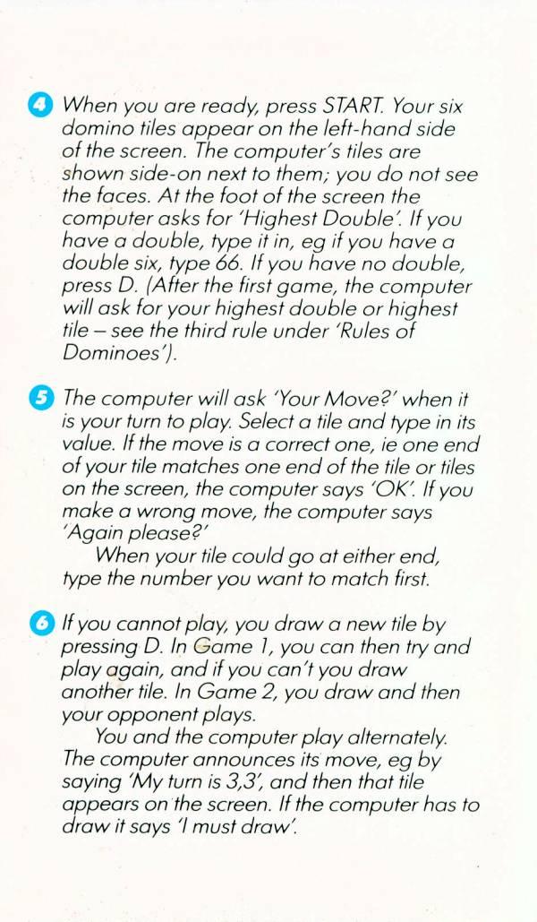 Atari 400 800 XL XE Cribbage  Dominoes  scans dump