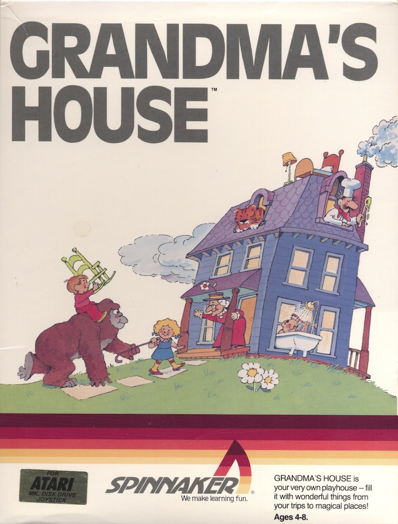 Atari 400 800 XL XE Grandmas House  scans dump download screenshots ads videos catalog