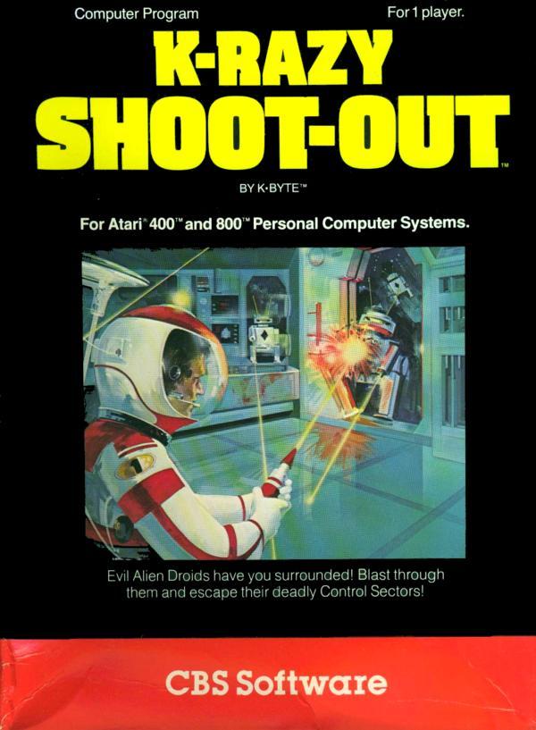 Atari 400 800 XL XE KRazy ShootOut  scans dump download screenshots ads videos catalog