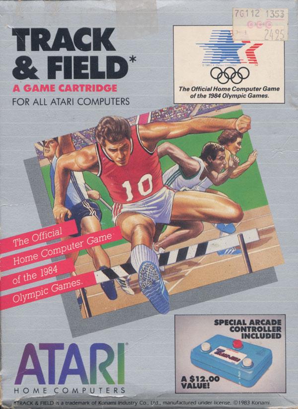Atari 400 800 XL XE Track  Field  scans dump download screenshots ads videos catalog