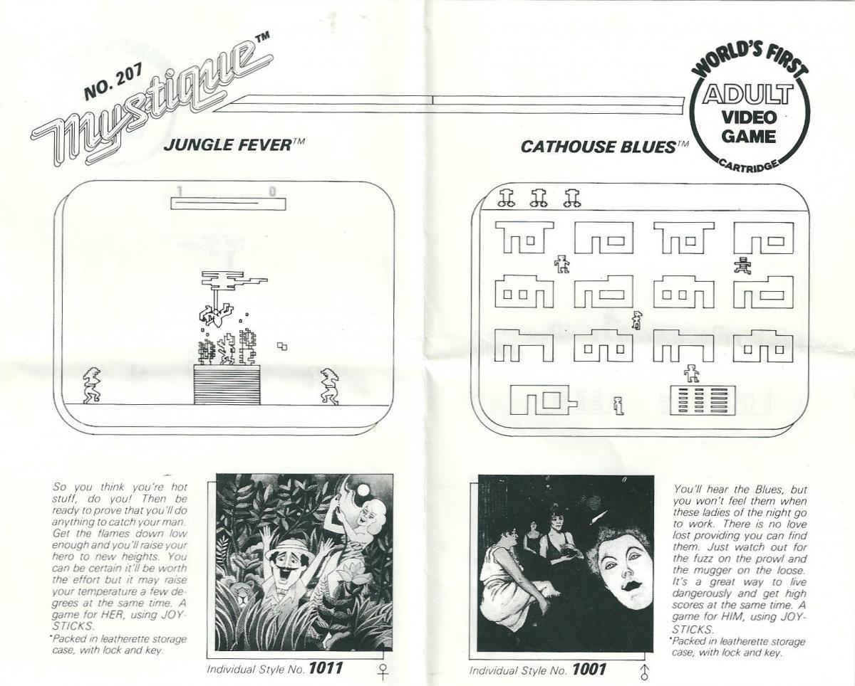 Atari 2600 VCS Cathouse Blues : scans, dump, download