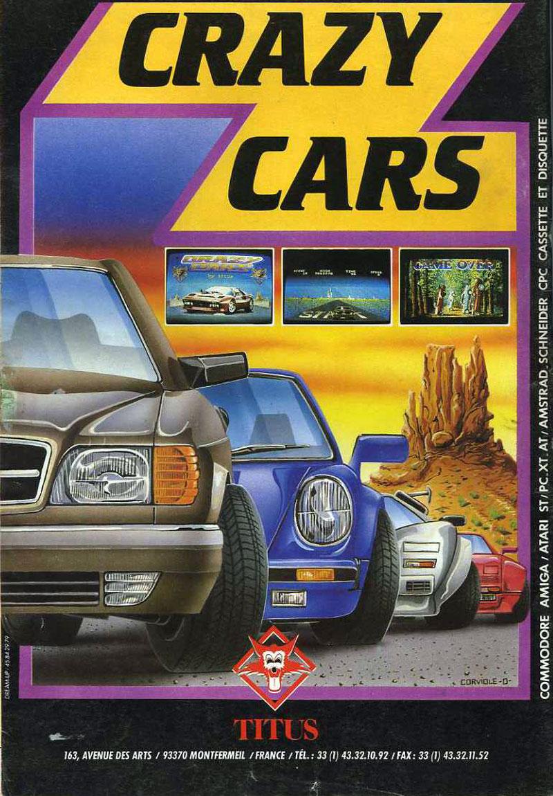 Atari ST Crazy Cars  scans dump download screenshots ads videos catalog instructions roms