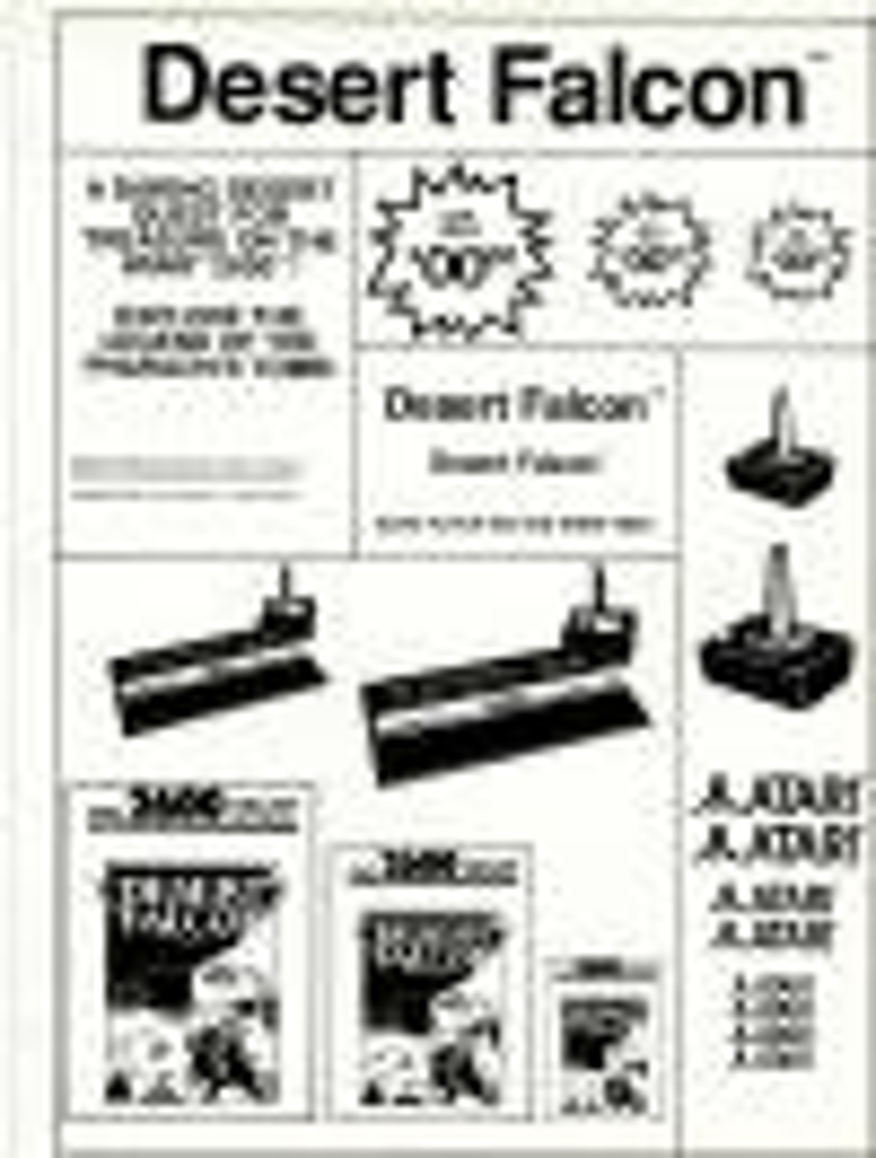 Atari 2600 VCS Desert Falcon : scans, dump, download