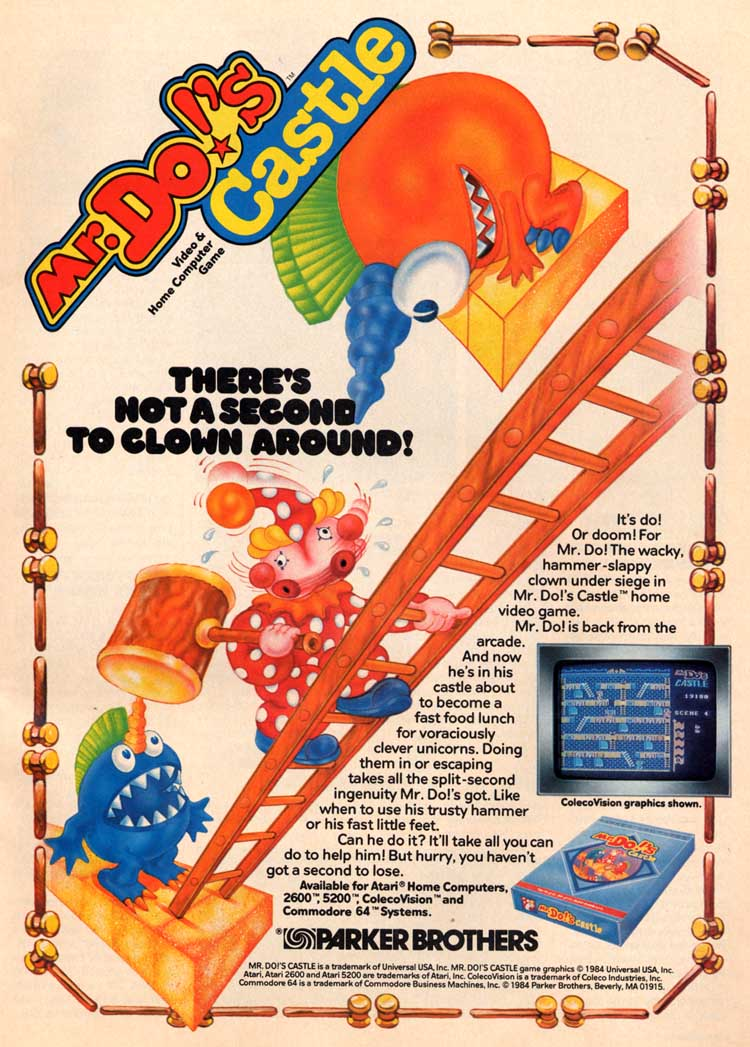 Atari 400 800 XL XE Mr Dos Castle  scans dump download screenshots ads videos catalog