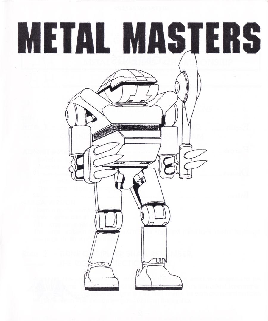 Atari ST Metal Masters : scans, dump, download