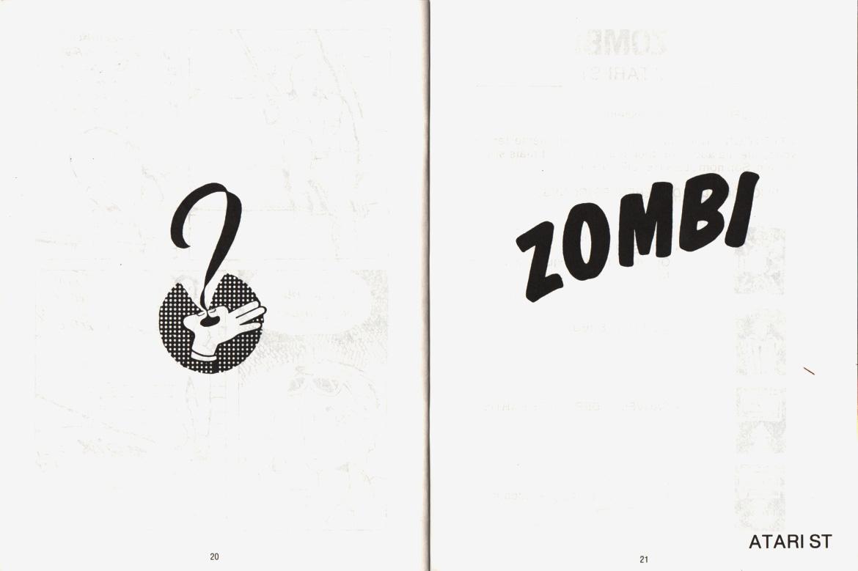 Atari ST Zombi : scans, dump, download, screenshots, ads