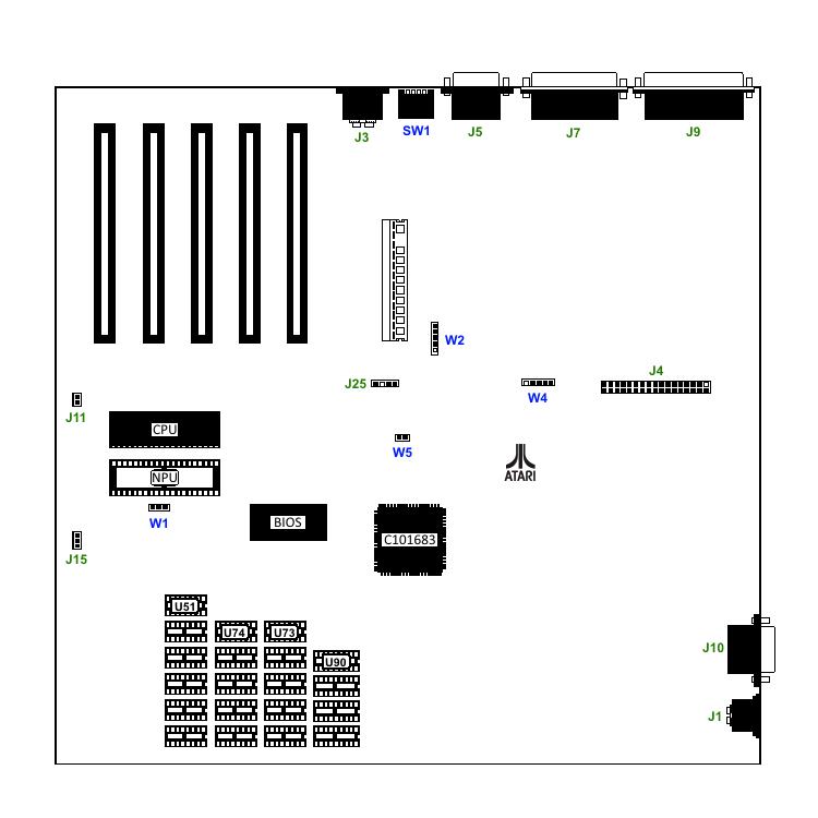PC3 Jumper Settings – Atari PC | IBM PC Compatible