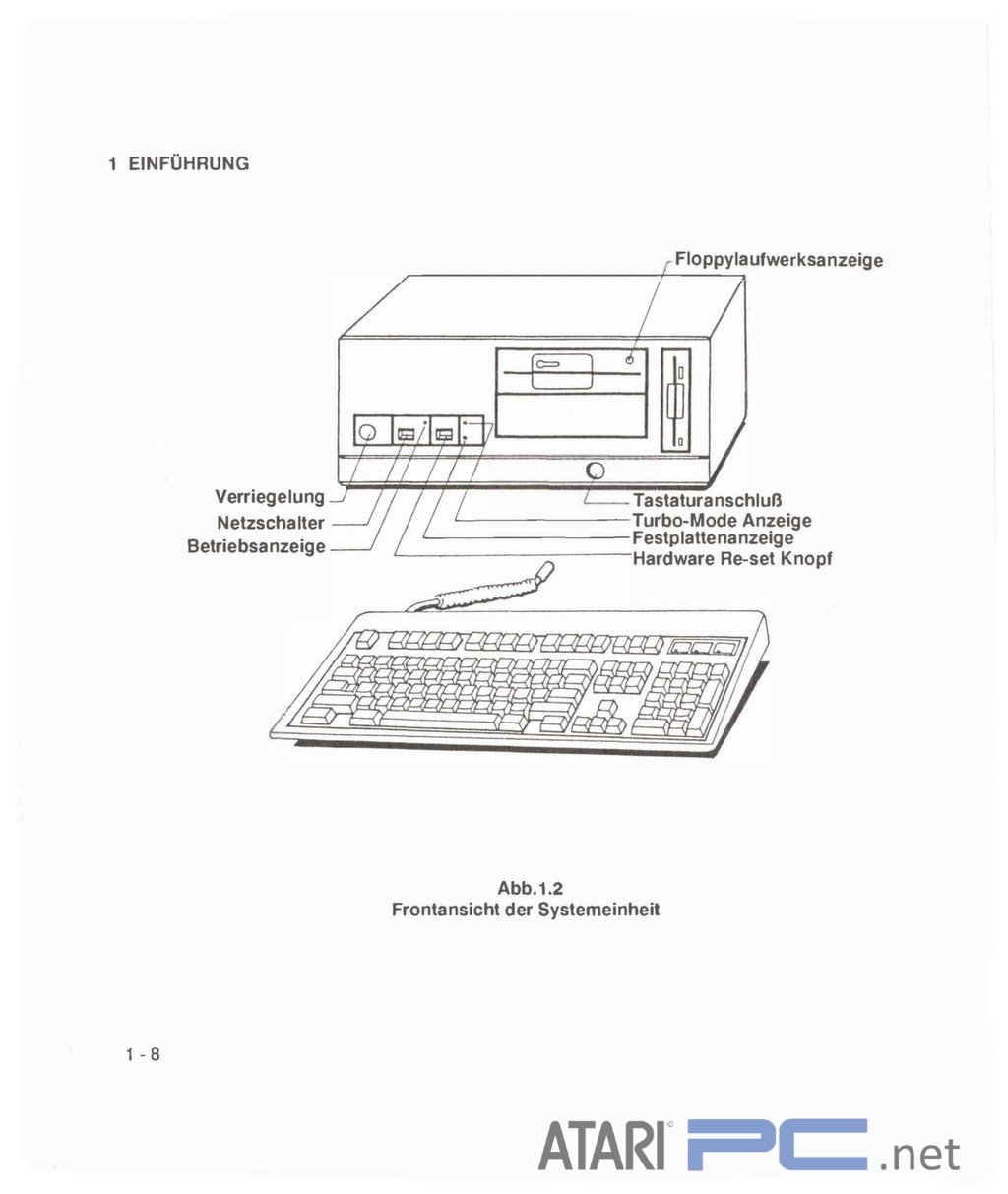 Atari PC4 (Mitac) User Manual – German