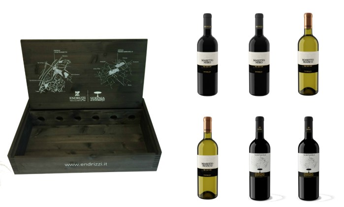 Endrizzi wine wooden box