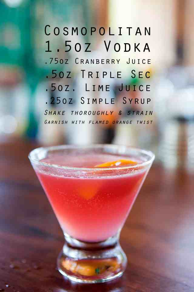 Cosmopolitan, Cosmopolitan recipe, Cosmopolitan drink recipe