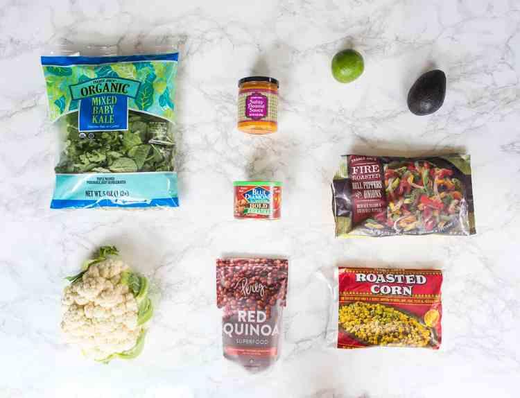 Healthy Roasted Veggie Bowl Ingredients