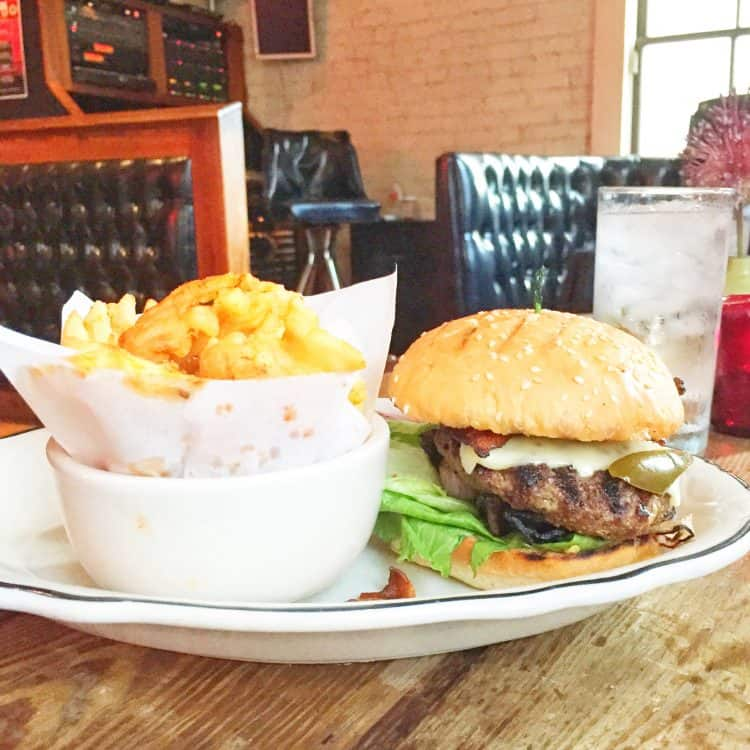 Lambert's Barbecue burger