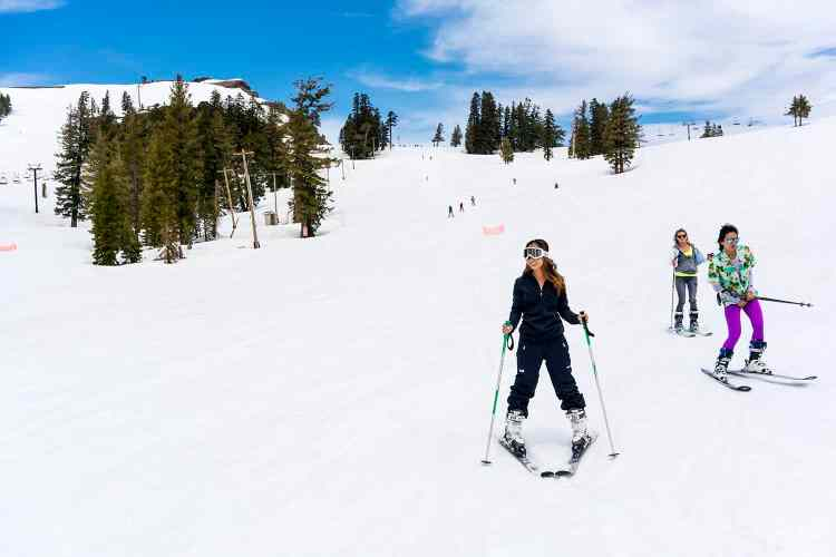 Skiing at Squaw