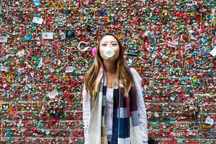 The Great Gum Wall in Seattle