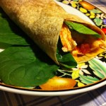 Chicken, Spinach, Egg and Cheese Breakfast Wrap