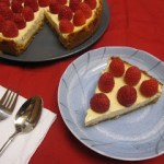 Greek Yogurt Raspberry Cheesecake