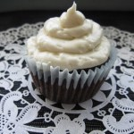Nutella Filled Chocolate Cupcakes with Coconut Cream Cheese Frosting