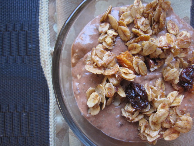 Chocolate Peanut Butter Creamy Chia Pudding
