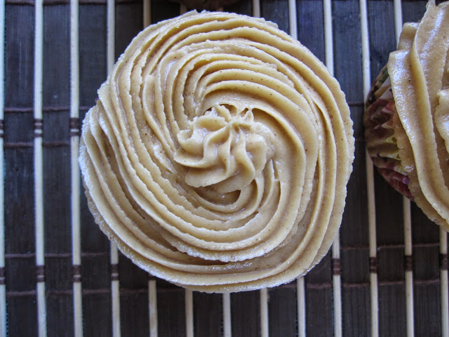 Vanilla Bean Cupcakes with Peanut Butter Frosting